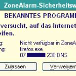 """Achtung, Firefox will ins Internet!"""