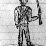 Soldat im Regen